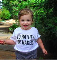 I'd Rather Be Naked Kid's Tee or Bodysuit