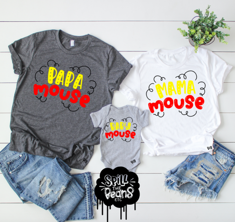 Mama Mouse Shirt or Tank