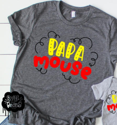 Papa Mouse Shirt or Tank