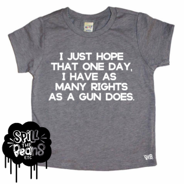 I Want Rights Women's and Kids March Tee Bodysuit or Kids Tee