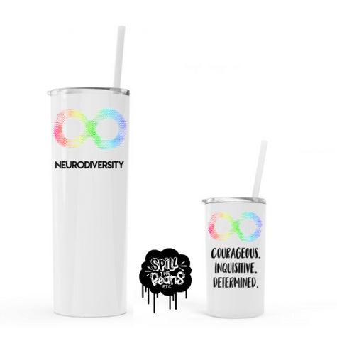 Neurodiversity UV Printed Cups (Single or Matching Set)