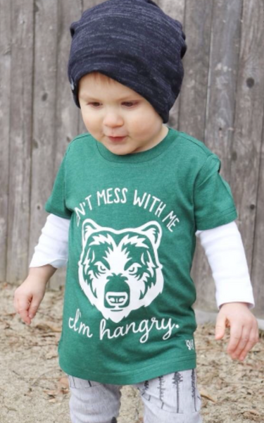 Don't Mess with Me I'm Hangry Bear Toddler Tee