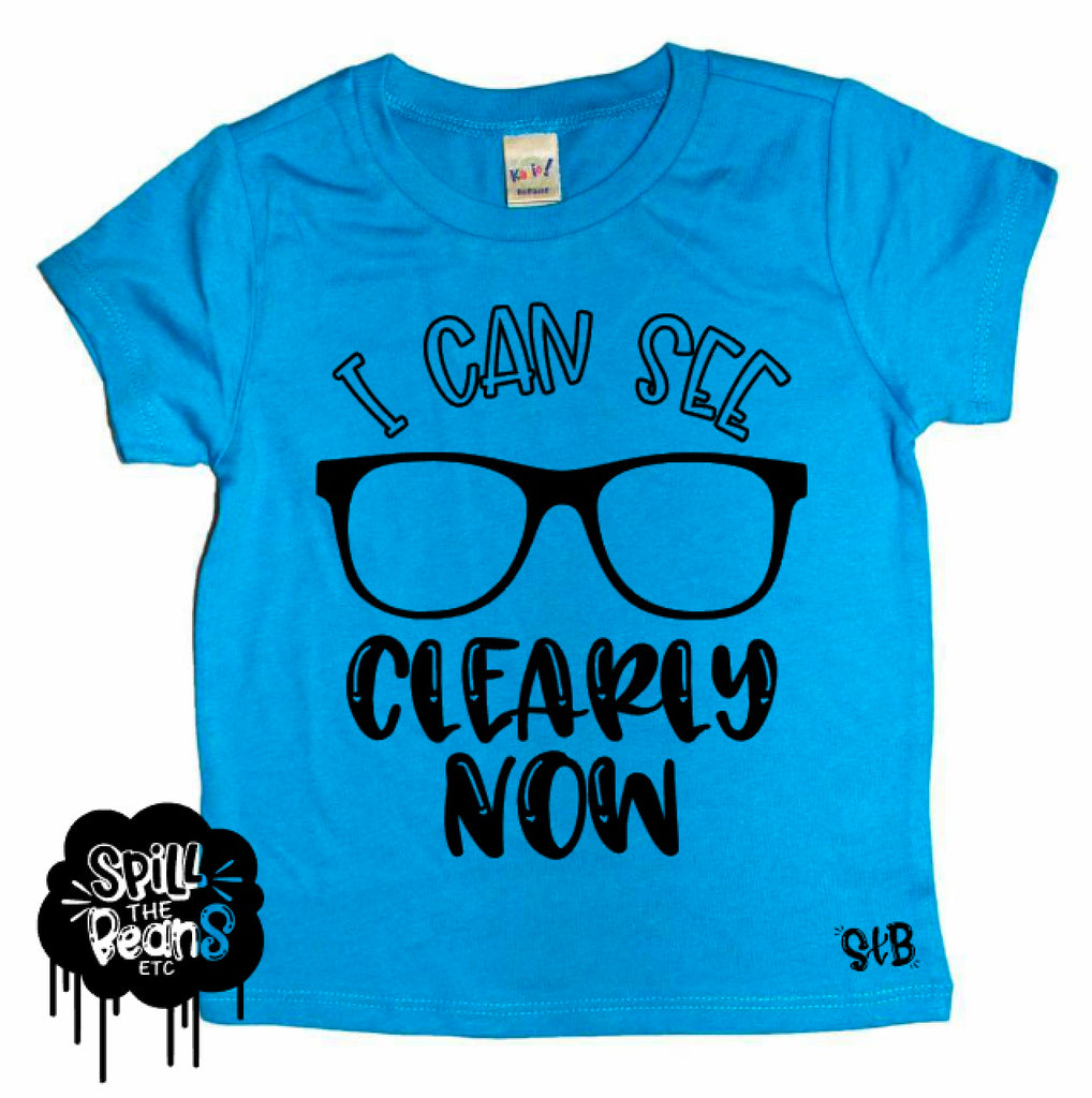 I Can See Clearly Now Glasses Kids Bodysuit or Tee