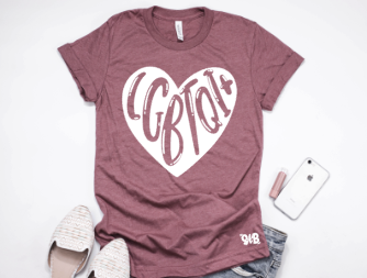 LGBTQI+ Heart Adult Tee or Tank