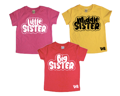 Big, Middle, Little Sister SINGLE TEE or SET