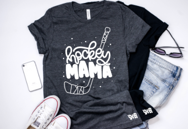 Hockey Mama Shirt or Tank