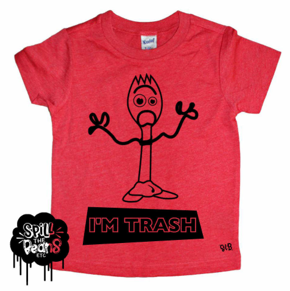 I'm Trash Forky Kids Tee