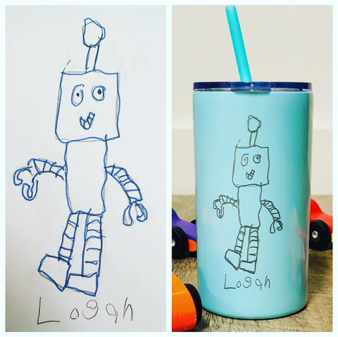 Custom Kids Artwork/Handwriting Engraved Cup