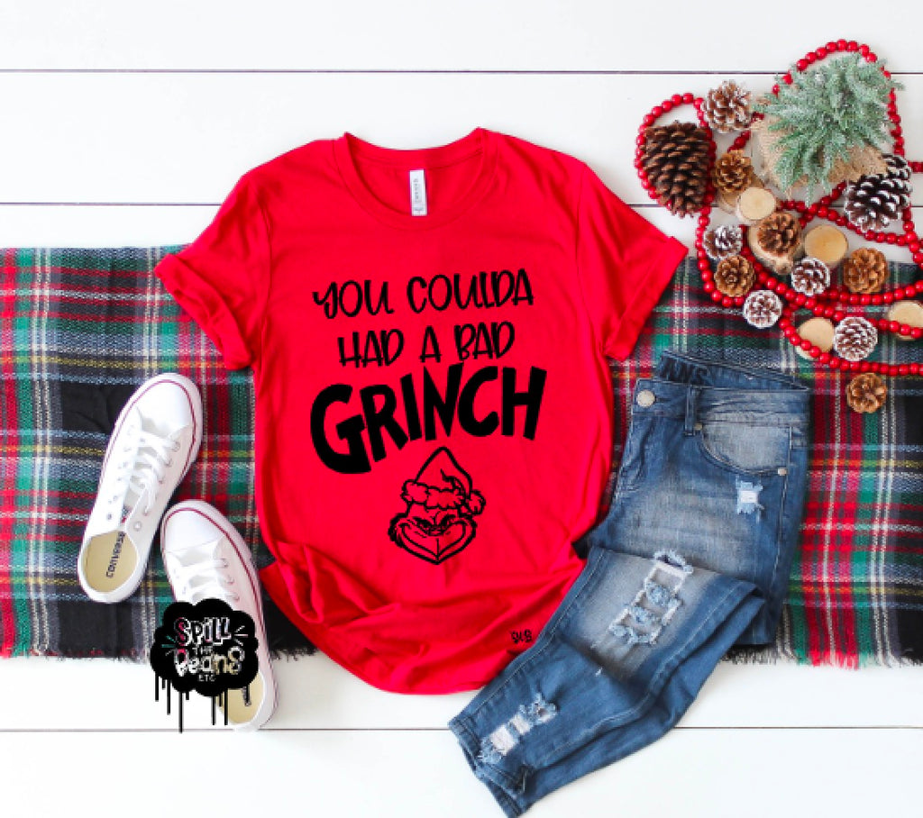 You Coulda Had a Bad Grinch Lizzo Christmas Adult Shirt