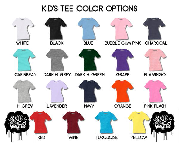 Colorful Here For The Drama Popcorn Kid's Tee