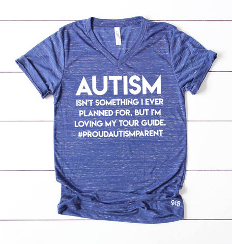 Autism Awareness tour guide Adult Tee