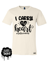 I Carry My Heart #babywearing Tee