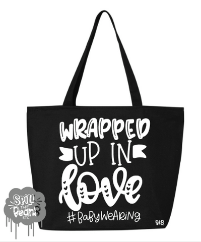Wrapped Up In Love Canvas Bag