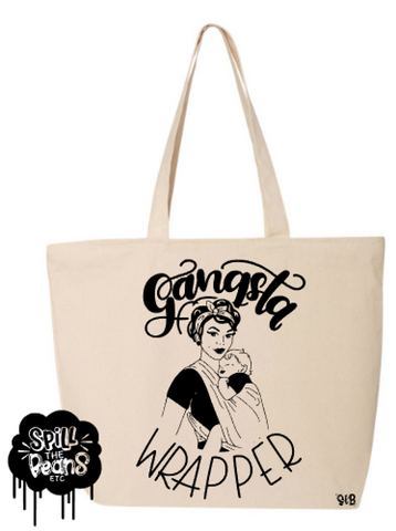 Gangsta Wrapper Canvas Bag