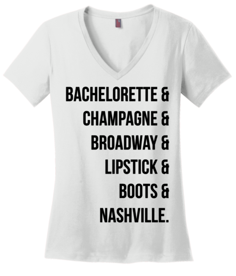 Bachelorette Boots Lipstick Tee or Tank