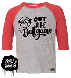 Take Me Out To The Ballgame Sequel Kid's Raglan