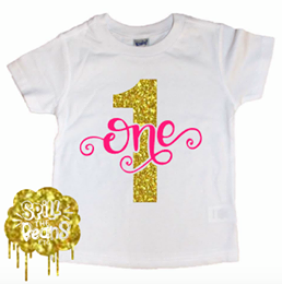 Sparkle Age Birthday Kid's Shirt