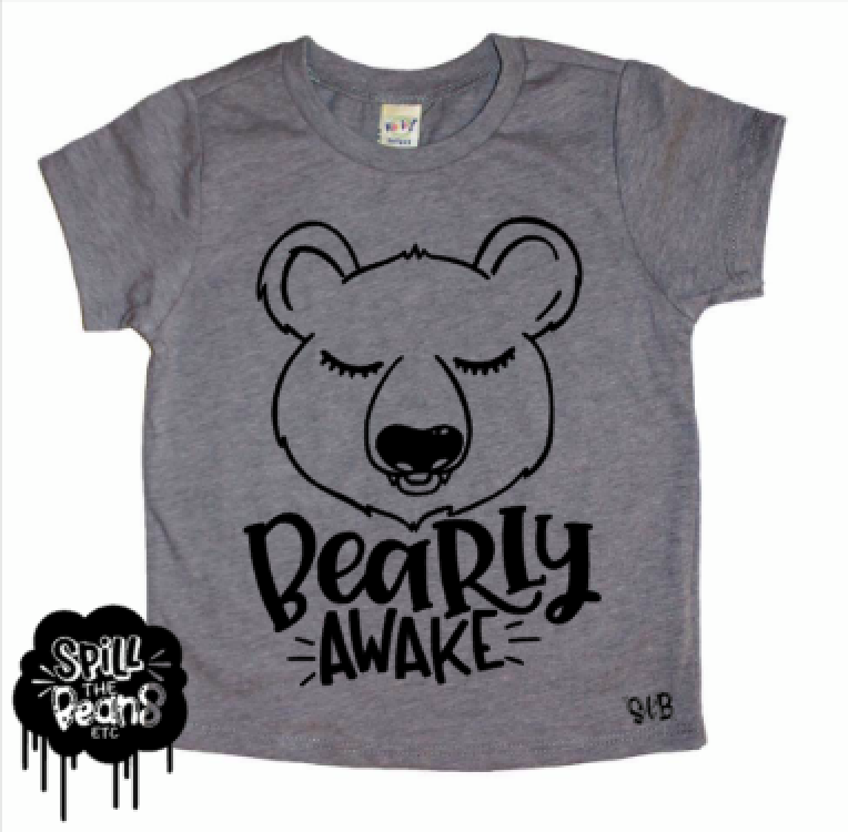 BEARly Awake Kid's Shirt