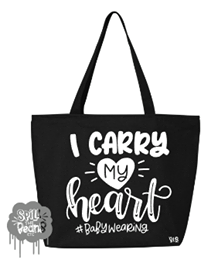 Carry My Heart Canvas Bag