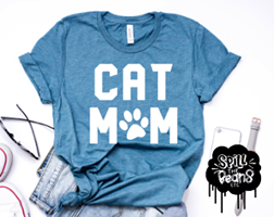 Cat Mom Adult Tee Or Tank