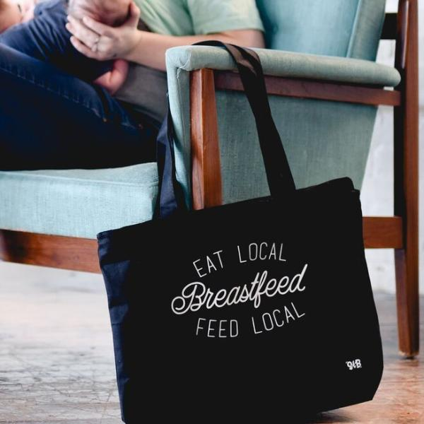 Eat Local Feed Local Breastfeed Canvas Bag