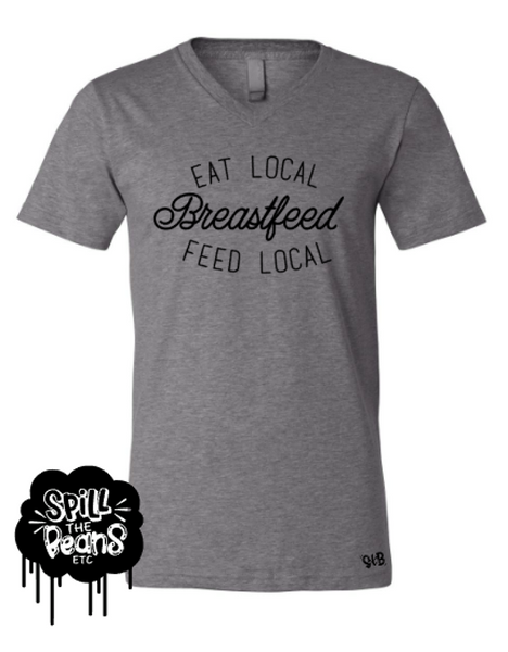 Eat Local Breastfeed Local Motherhood Tee Or Tank