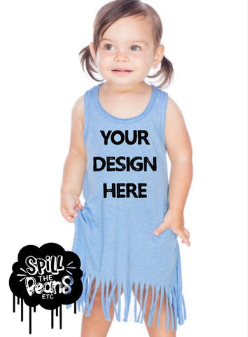 Custom Toddler-Kid Fringe Dress