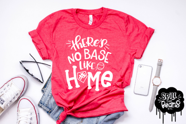There's No Base Like Home Adult Tank or Tee