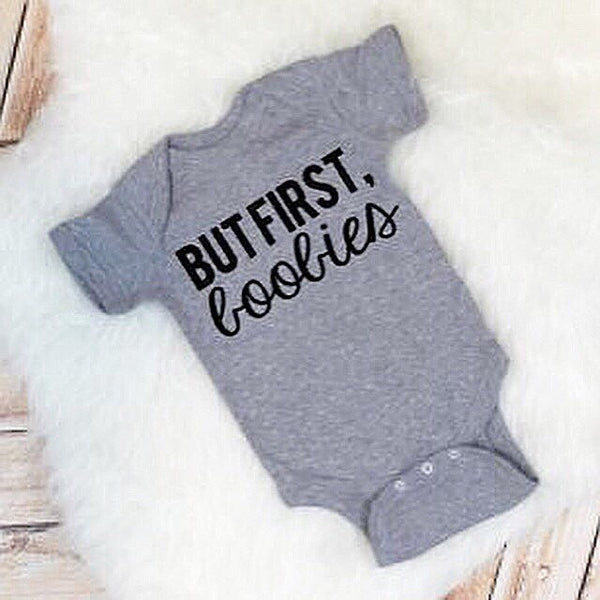 But First Boobies Breastfeeding Bodysuit or Tee