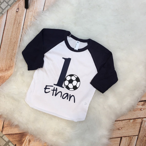 1st Birthday Sports Theme Children's Raglan