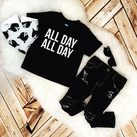 All Day All Day pre k best friend brothers sisters tee baby sassy girls boys hipster Shirt Bodysuit Infant or Toddler