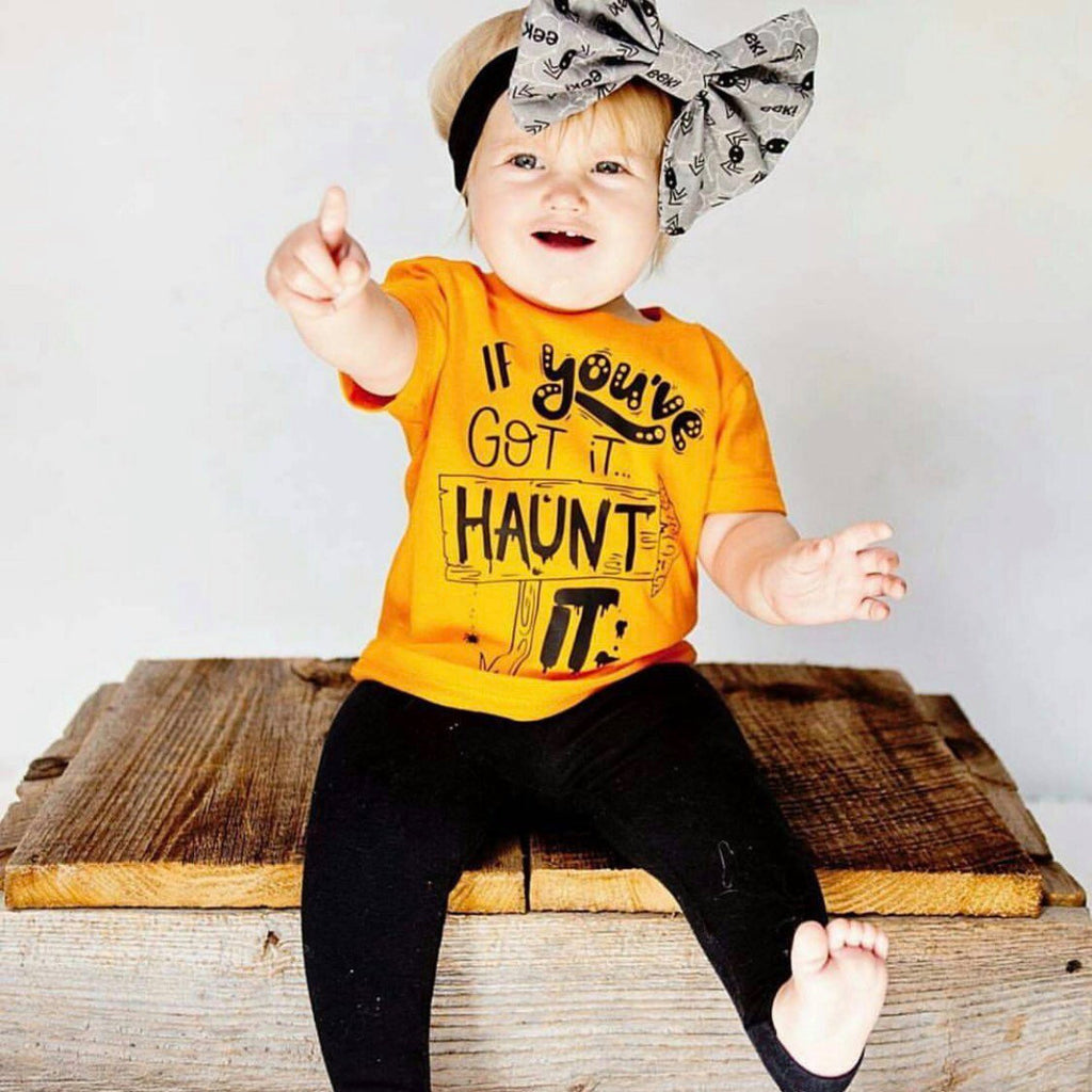 If You've Got it, HAUNT It Trendy Halloween Tee for Kids