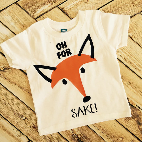 Oh For Fox Sake bodysuit toddler shirt ANY SIZE infant baby gear