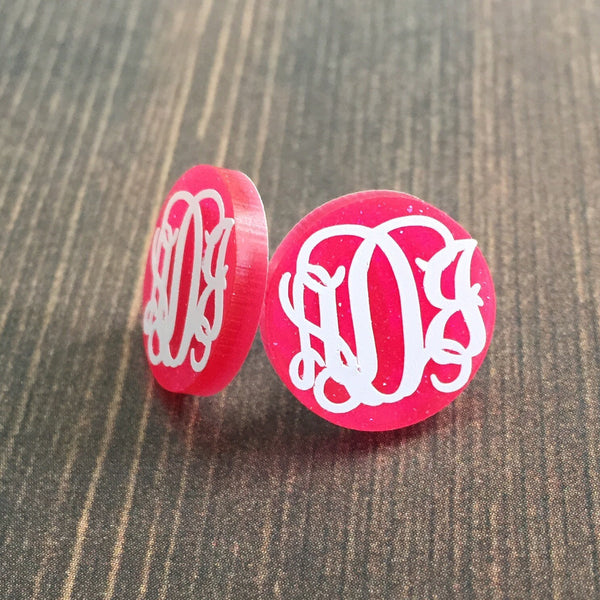 Personalized Monogram Post Earrings