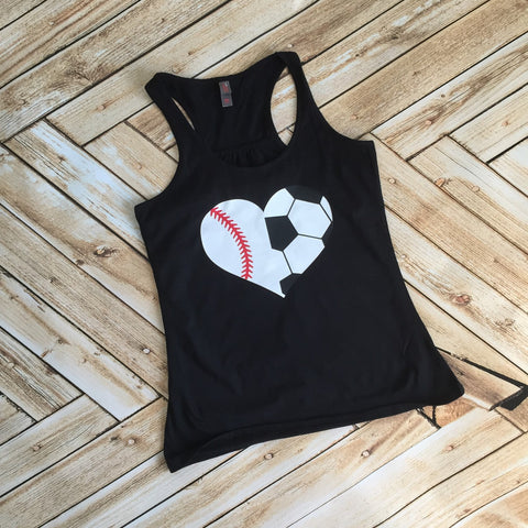 Soccer and Baseball Mom Tank or Tee