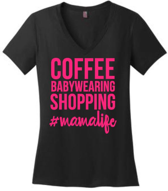 Coffee Babywearing Shopping #mamalife Tee or Tank