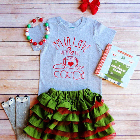 I'm in Love with the Cocoa hot coco Christmas winter funny sippy cup Breastfeeding sassy girls boys hipster Shirt Bodysuit Infant or Toddler