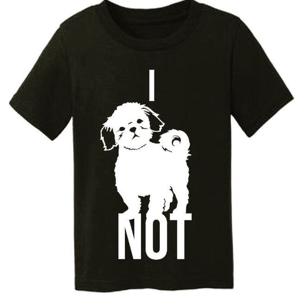I Shih Tzu Not Dog Lover Tee for Kids