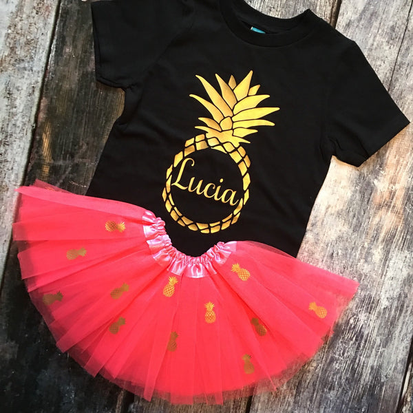 Pineapple Custom Birthday Outfit for Girls