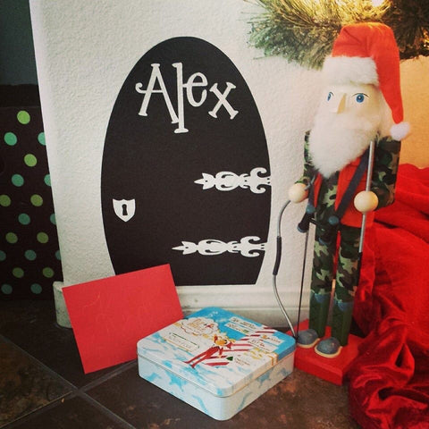 Santas Helper Santa Elf Door Elves Wall decal Personalized Personalize Name Custom colors Vinyl elves Monogram Christmas Children Kids