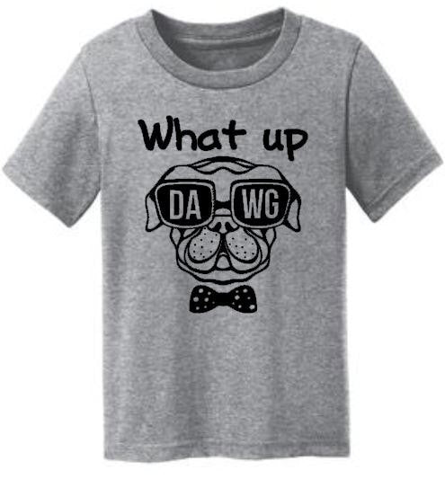 What Up Dawg Dog Funny Kids Tee