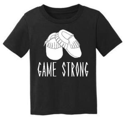 Moccs Game Strong -- Hipster Kids Tee