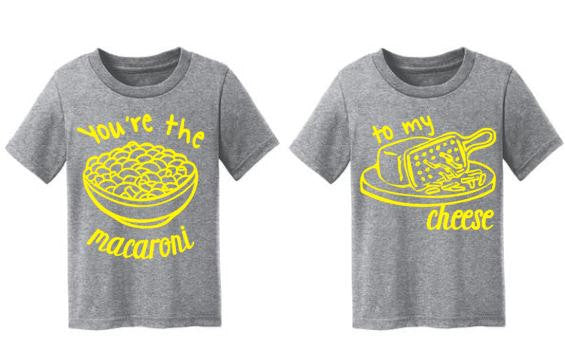 Macaroni & Cheese BFF or Sibling Shirts