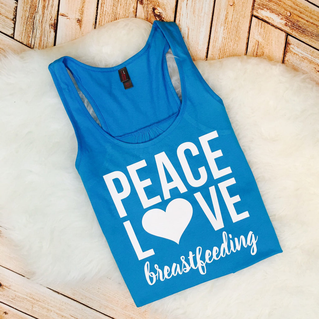 Peace, Love Breastfeeding Tank