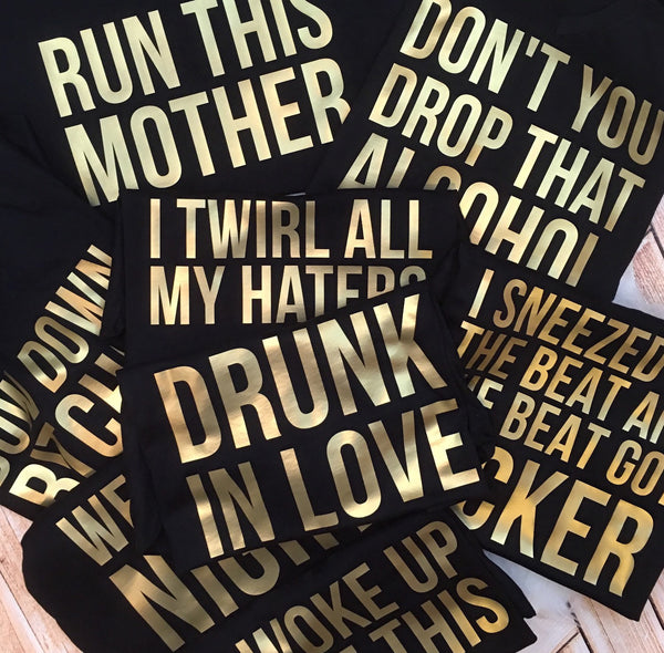 Hip Hop Lyric Bachelorette Party Tees