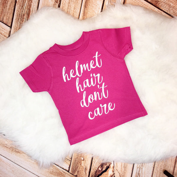 Helmet Hair Don't Care Plagiocephaly Infant Toddler Tee or Bodysuit