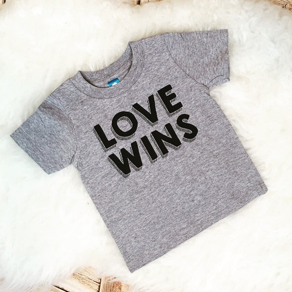 LOVE Wins dump Trump rainbow marriage equality gay marriage support tee t shirt sassy girls boys hipster Shirt Bodysuit Infant or Toddler