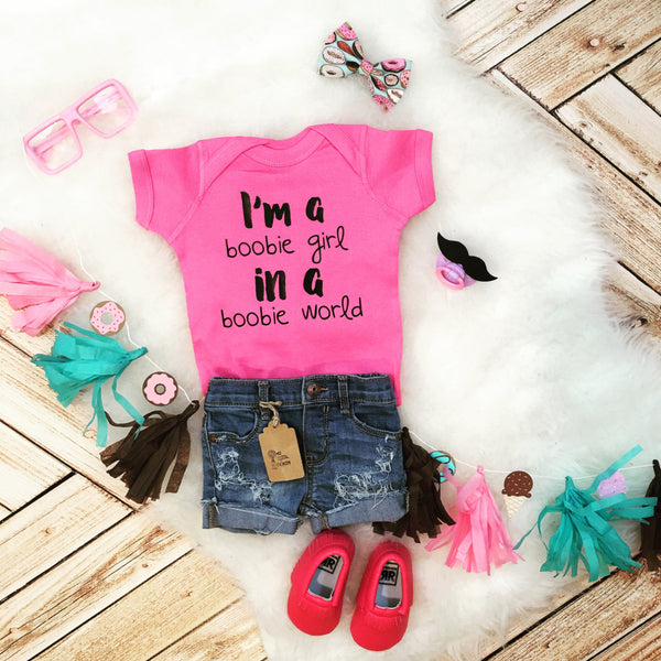 Boobie Girl Funny Baby Toddler Bodysuit Or Tee