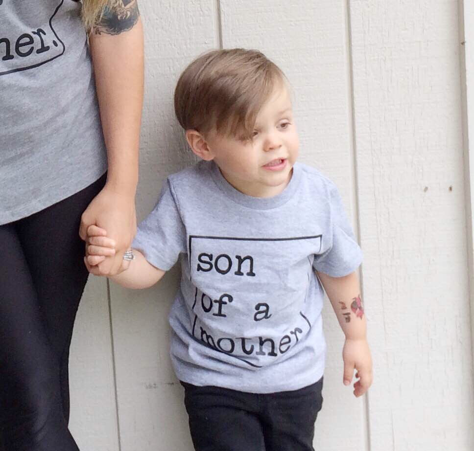 Son of a Mother Funny Kids Tee