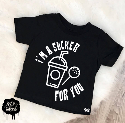 Sucker for you- Starbucks Jonas Brothers inspired Kids Tee